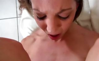 Gorgeous seductive brunette college girl Angel Cassidy dicked