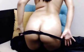 Sweet brunette girlfriend masturbating her amazing cunt