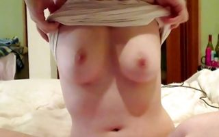 Awesome horny girlfriend Lola Jo showing big boobs