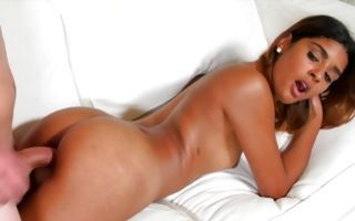 Hot indian brunette Katalina Mills rides in reverse cowgirl in homemade xxx