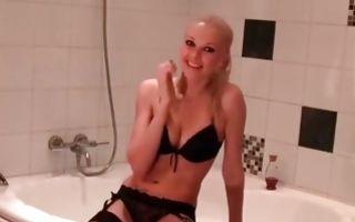 Sweet blonde ex-girlfriend insanely fucked in bathroom