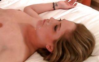 Fabulous girlfriend Ava with round butt has deep rough sex