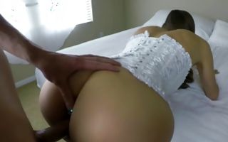 Cute GF with amazing butt insanely fucked in ass hole