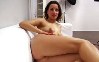 Watch my GF Kristyna with round butt showing hot body