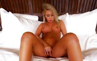 Tremendous light-haired girlfriend sucking giant schlong