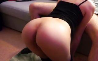 Sexy GF Miss Banana making blowjob before painful sex
