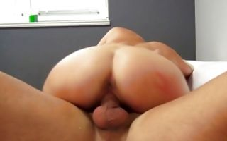 Hot blonde girlfriend Laura with big boobs has rough sex