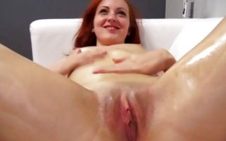 Spicy redhead ex-girlfriend Dana masturbating juicy cunt