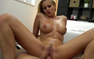 Fabulous blonde ex-girlfriend Petra has insane anal sex