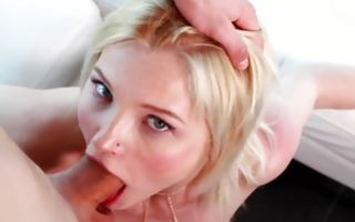 Sweet blonde girlfriend Zazie Skymm has cruel anal sex