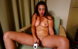 Young brunette ex-girlfriend nicely swallowing big knob