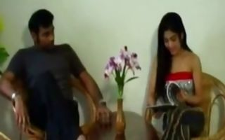 Horny couple is having sex in the room seducing each other