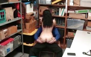 Astonishing brunette GF Monica Sage has painful sex
