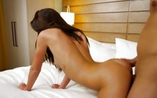 Rough deep sex on bed with fabulous naughty girlfriend