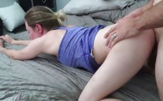 Teen whore gets slammed from behind doggy style hardcore
