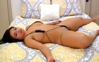 Impressive girlfriend with perfect body fucked on bed