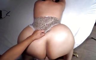Pretty fat brunette gets ass licked and gets pussy drilled