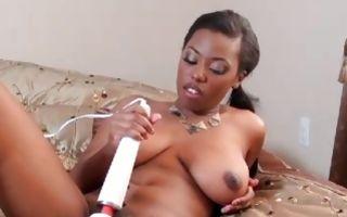 Fabulous amateur slut Sonia Roxxx playing with vibrator
