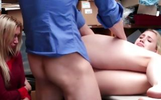 Sweet blonde floosie has painful sex with horny man